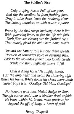 And an accompanying poem by the Great War poet Henry Chappell (1874 ...