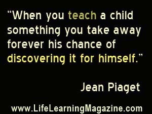 Children pursue life, and in doing so, pursue knowledge. They need ...