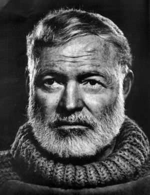 Ernest Hemingway looked at the world
