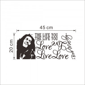 Product ID: 32276506035 Wholesale Bob Marley Quotes Vinyl Wall Decals ...