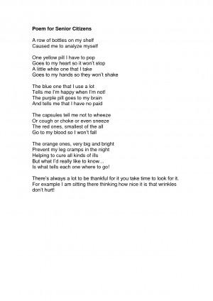 Poem for Senior Citizens