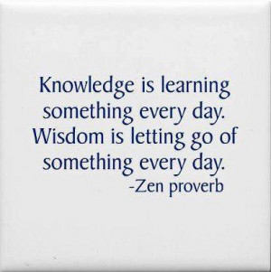 An inspirational picture quote about the difference between knowledge ...