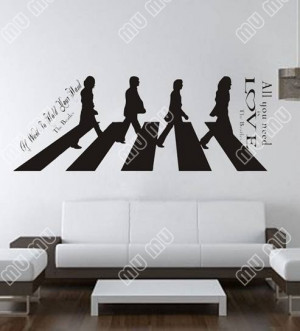 All-You-Need-Is-Love-the-Beatles-Large-Wall-Decal-Sticker-Home ...