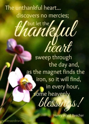 Thankful Thursday :: Thankful Heart Quote and Printable