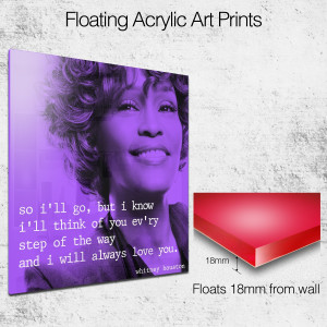whitney houston quote 4 square wall art