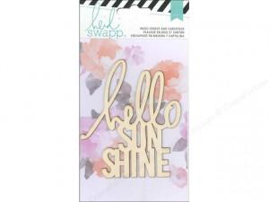 ... Crafts Heidi Swapp Wanderlust Wood Veneer Quote Hello Sunshine