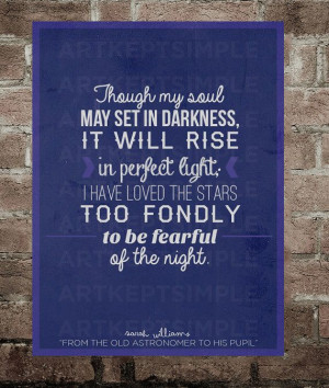 INSTANT DOWNLOAD Sarah Williams Stars Quote by artkeptsimple