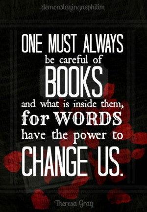 Books are powerful.
