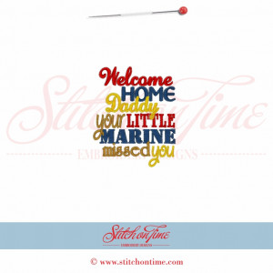 5526 Sayings : Welcome Home Daddy 4x4