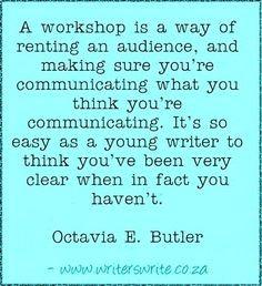 Quotable - Octavia E. Butler - Writers Write