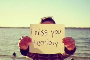 SAYING I MISS YOU
