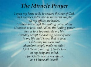 View the new Miracle Prayer PowerPoint presentation!