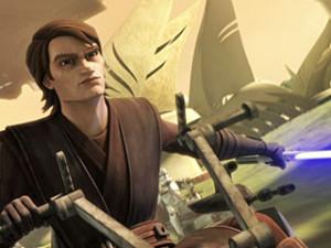 DARK FORCE RISING Anakin (Matt Lanter) takes a walk on the Dark Side ...