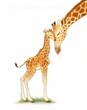 Giraffe Quotes For Kids Nursery art print giraffe