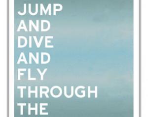 Skydiving Print Parasailing Hang Gl iding Poster Bungee Jumping Art ...