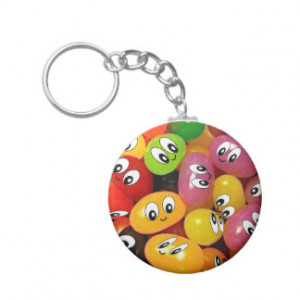 Cute Jelly Bean Smileys Key Chain