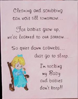Shower Poem Insert Card Baby