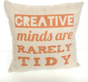 Creative Minds Quote Cushion contemporary-decorative-pillows
