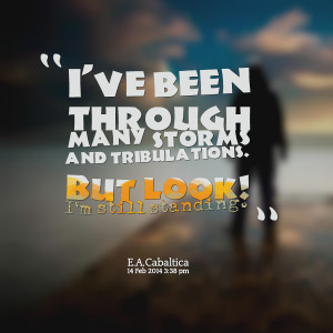 Quotes Picture: i've been through many storms and tribulations but ...