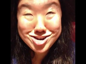 lol she is asian you fuckin morons and that is the funniest face ever ...