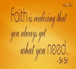 Sri Sri Ravi Shankar quote on faith