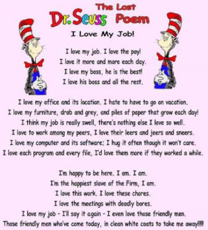 Dr. Seuss - I Love My Job