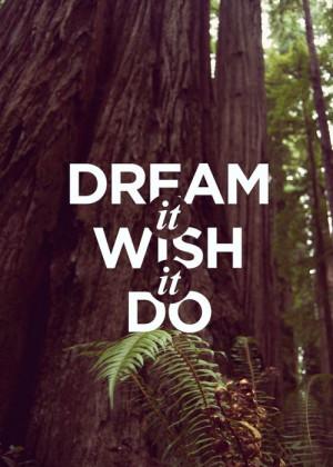 Dream it, Wish it, Do it. #quote #design