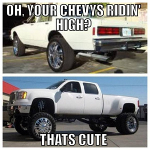 Lmao!!!!! This is why I'll always be a Chevy girl. Funny Country quote