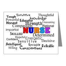 NURSE Describing words Note Cards (Pk of 10) for