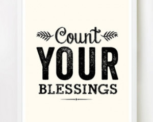 ... Blessings - 16x20 inches on A2. Inspiring spiritual quote art print