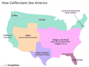 Funny Graph Showing How Californians see the USA