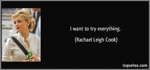 More Rachael Leigh Cook Quotes