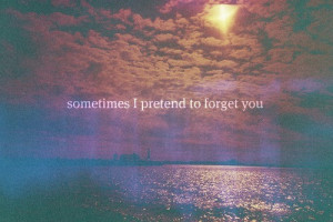 Sometimes I Pretend To Forget You