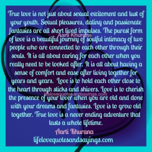 Love Is A Beautiful Journey Of Soulful Intimacy..