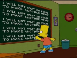 Bart Simpson at the blackboard pics16 Funny: Bart Simpson at the ...