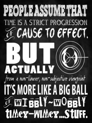 Doctor Who Quote - Wibbly Wobbly Timey Wimey - Time Lord Art Art Print