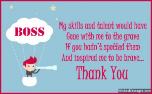 ... boss from employee Thank You Notes for Boss: Messages and Quotes to