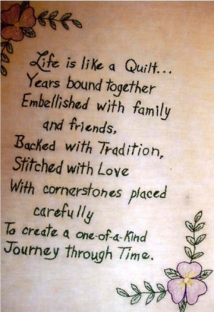Life is Like a Quilt