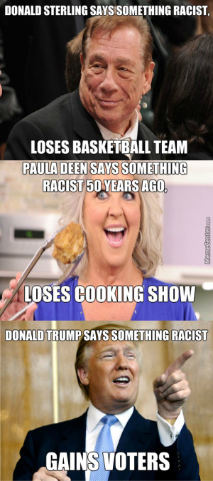 donald trump double standard racist quotes