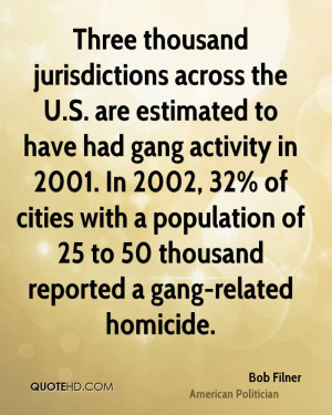 ... population of 25 to 50 thousand reported a gang-related homicide