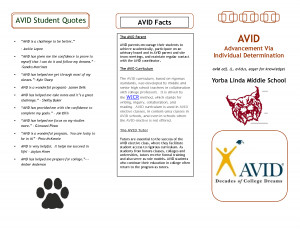 AVID Student Quotes - Yorba Linda Middle School by cuiliqing