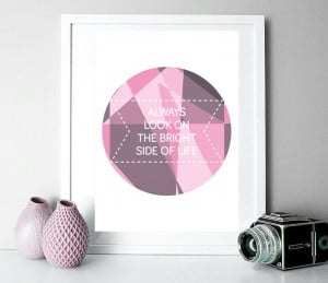 frame, quotes, print, pink