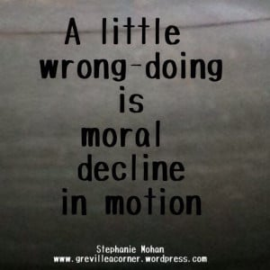 Moral decline in motion