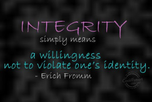 Integrity Versus Publicity