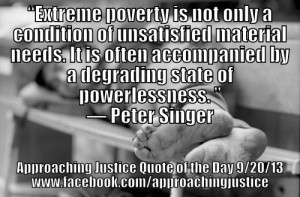 ... Quote of the Day. Today's quote comes from Peter Singer of Princeton
