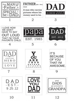 Father's Day Printables and Photo ideas