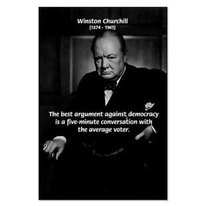 Details about WINSTON CHURCHILL FAMOUS QUOTE 11