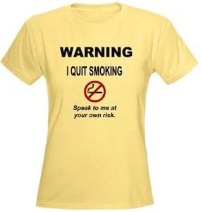 quit smoking t-shirt