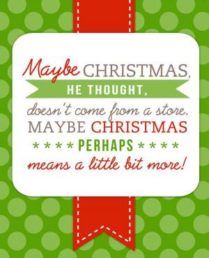 free printable dr. seuss christmas quote