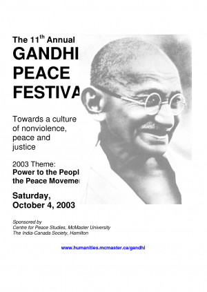 World Peace Quotes Gandhi Th the 11 annual gandhi peace